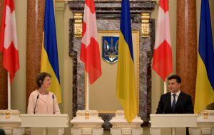 Por primera vez en la historia de las relaciones entre Ucrania y Suiza