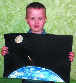 Андрюша «летит» на Луну