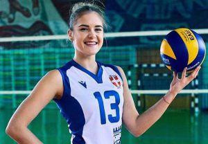 Либеро сборной Украины по волейболу Анастасия Карасева