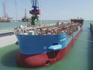 У Баку спустили на воду танкер, спроектований одеситами