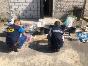 Ривненская область: Изъяли незаконно добытый янтарь