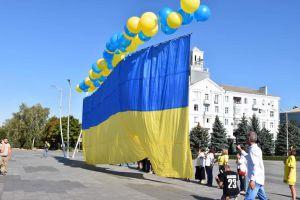 Сине-желтое знамя взлетело к оккупированным землям
