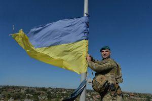 Сине-желтый флаг над Азовом