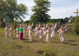 Житомирщина: На поле кровавой битвы освятили крест
