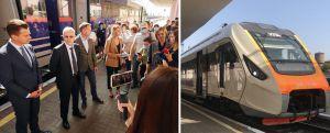 Черкасчина: Торжественно провели в дорогу  скоростной дизель-поезд