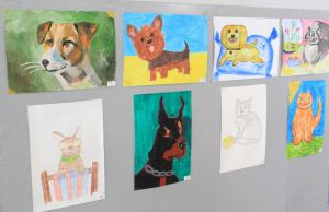 Запоріжжя: Кошти від продажу малюнків допоможуть бездомним тваринам