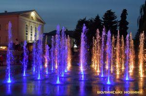 Луцк: Почти ледяной фонтан