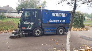 Житомирщина: У Радомишлі двірників заміняє машина