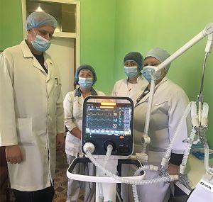Житомирщина: Получили современный аппарат ИВЛ