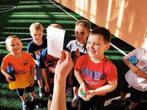 Приобщают особенных детей к футболу