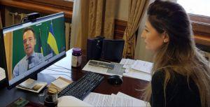 Перша заступниця міністра закордонних справ Еміне Джапарова провела відеозустріч із Акселем Кенесом