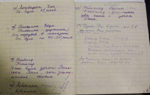 Синяя тетрадь с фамилиями 200 расстрелянных евреев