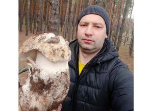 Черкаси: Гриб-велетень перед сніговієм