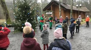 Волынь: Домик в лесу,  где живет Санта