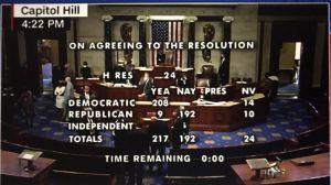 Палата представителей во второй раз  проголосовала за начало процедуры импичмента