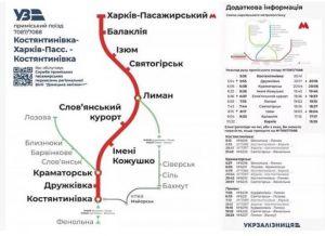Відновлюють рух електропоїзда між Костянтинівкою та Харковом