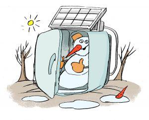 Солнечная электростанция может быть эффективной и зимой