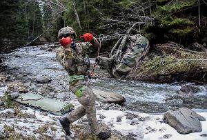 Боевых пловцов  видели в горах