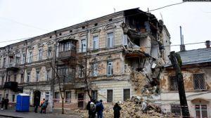 В центре Одессы обвалился дом