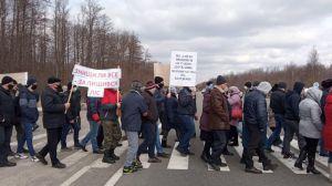На Чернігівщині лісгоспівці перекрили міжнародну трасу