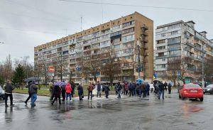 У Києві жителі Оболоні перекрили дорогу