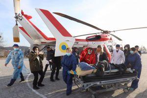 Пациентку доставили во Львовскую больницу на вертолете
