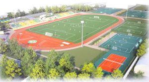 На одном стадионе — пять футбольных полей