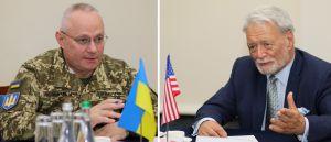 Главнокомандующий ВСУ генерал-полковник Руслан Хомчак встретился с президентом фонда «Потомак»  доктором Филиппом Карбером