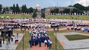 «Щедрик» зазвучал тысячами голосов в Тульчине