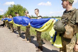 Запустили сине-желтый флаг в сторону оккупантов