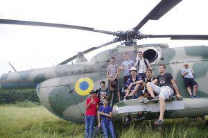 Полтавщина: На тренировку учеников прилетел вертолет