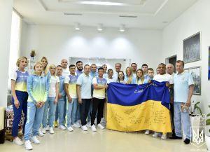 С надеждой на успехи олимпийцев Украины!