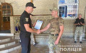 Поблагодарили коллег-земляков, которые несут службу в зоне проведения ООС