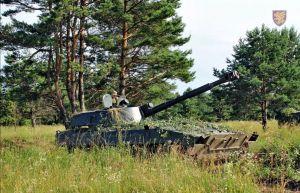 Житомирские десантники продолжают подготовк  артиллерийских расчетов