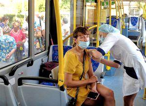 В Кропивницком действуют мобильные пункты вакцинации