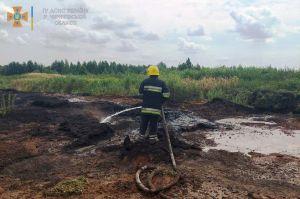 Черниговщина: Горит торфяник