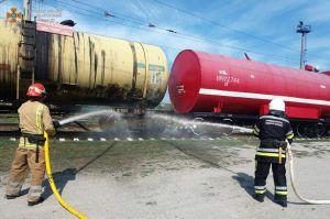 Полтава: Железнодорожники потушили пожар. Условный