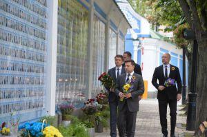 Голова Парламенту Дмитро Разумков взяв участь у церемонії вшанування пам'яті полеглих захисників України
