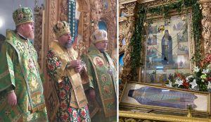Чернигов: Крест для храма освятил митрополит