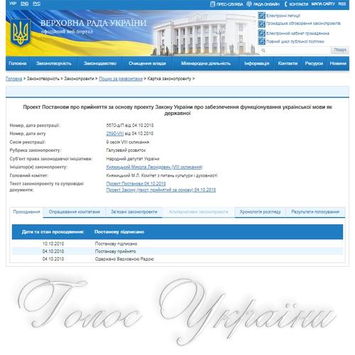 Проект закону «Про забезпечення функціонування української мови як державної» і європейська інтеграція України