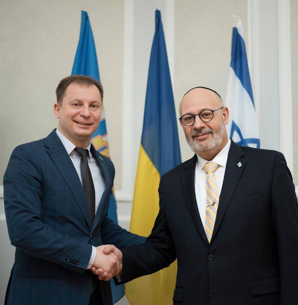 Тернопольщину  посетил посол Израиля
