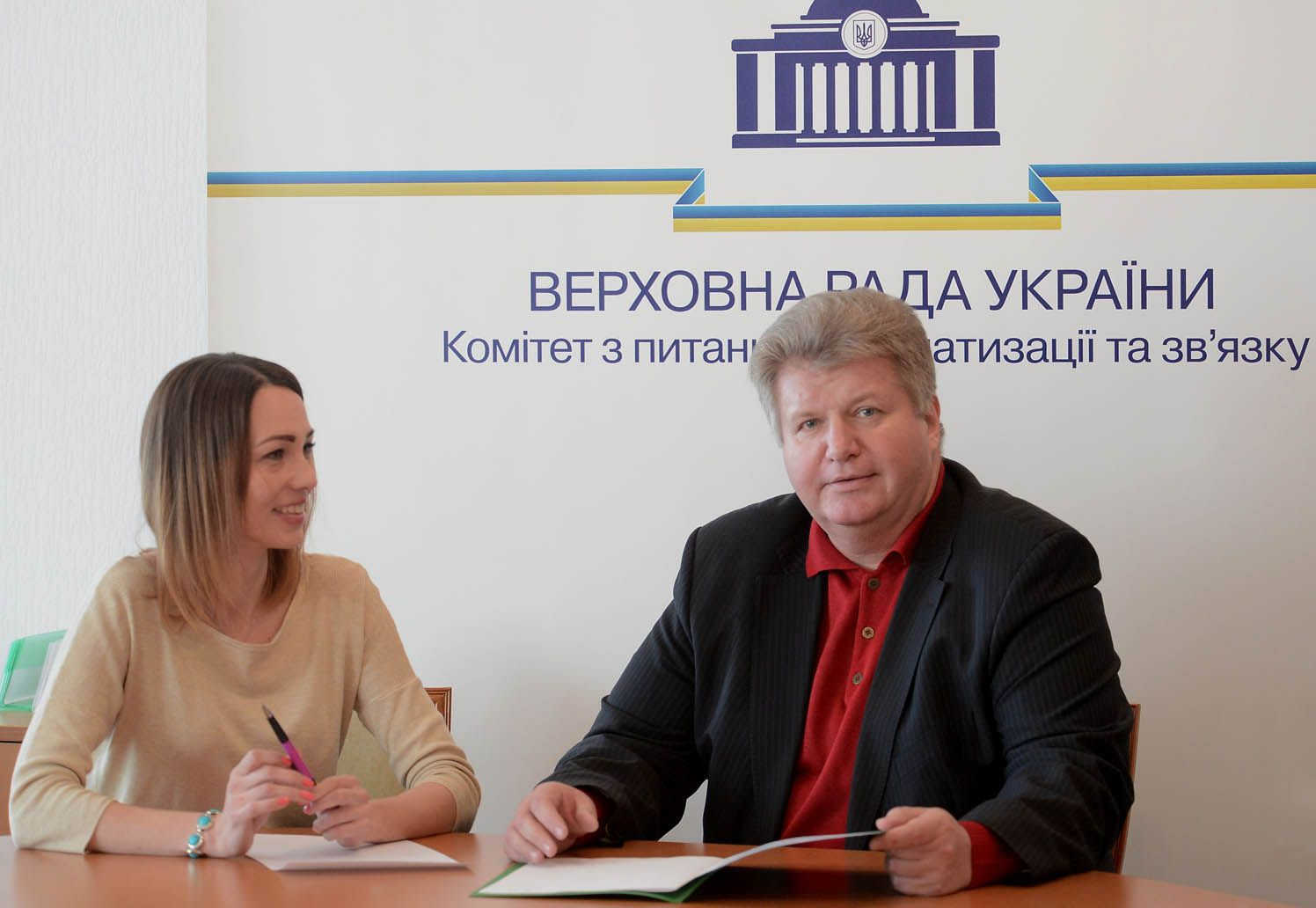 О. Старинець та І. Віннікова під час роботи Комітету з питань інформатизації