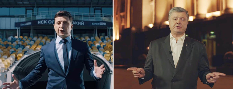 Petro Poroschenko und Wolodymyr Selenskij können im Kiews größten Stadion debattieren