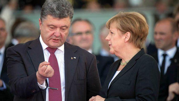 Порошенко закликав Берлін підтримати посилення санкцій проти РФ