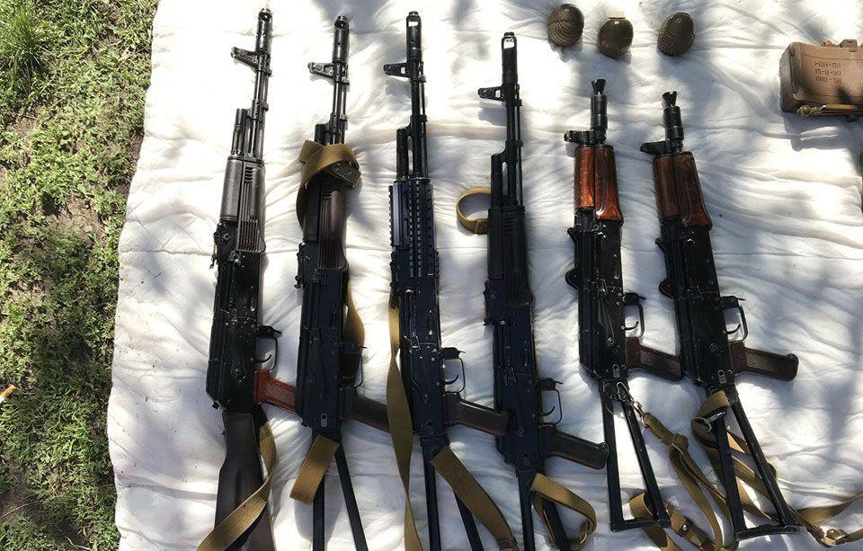 Вилучили черговий арсенал зброї