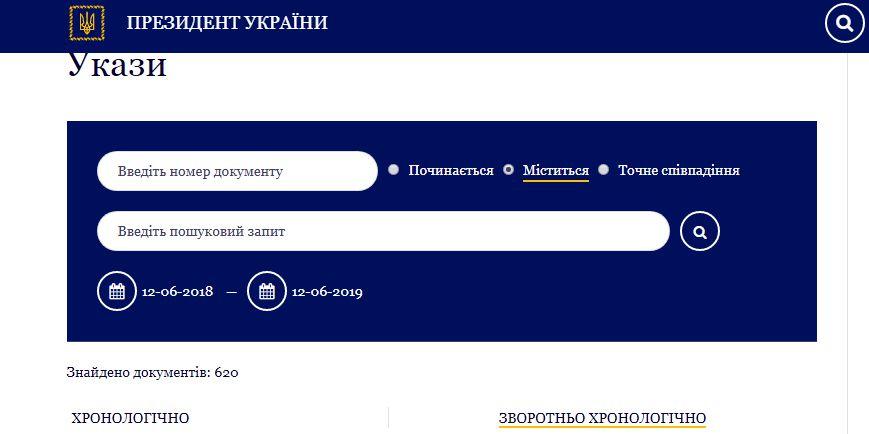 Укази Президента України: звільнення, призначення