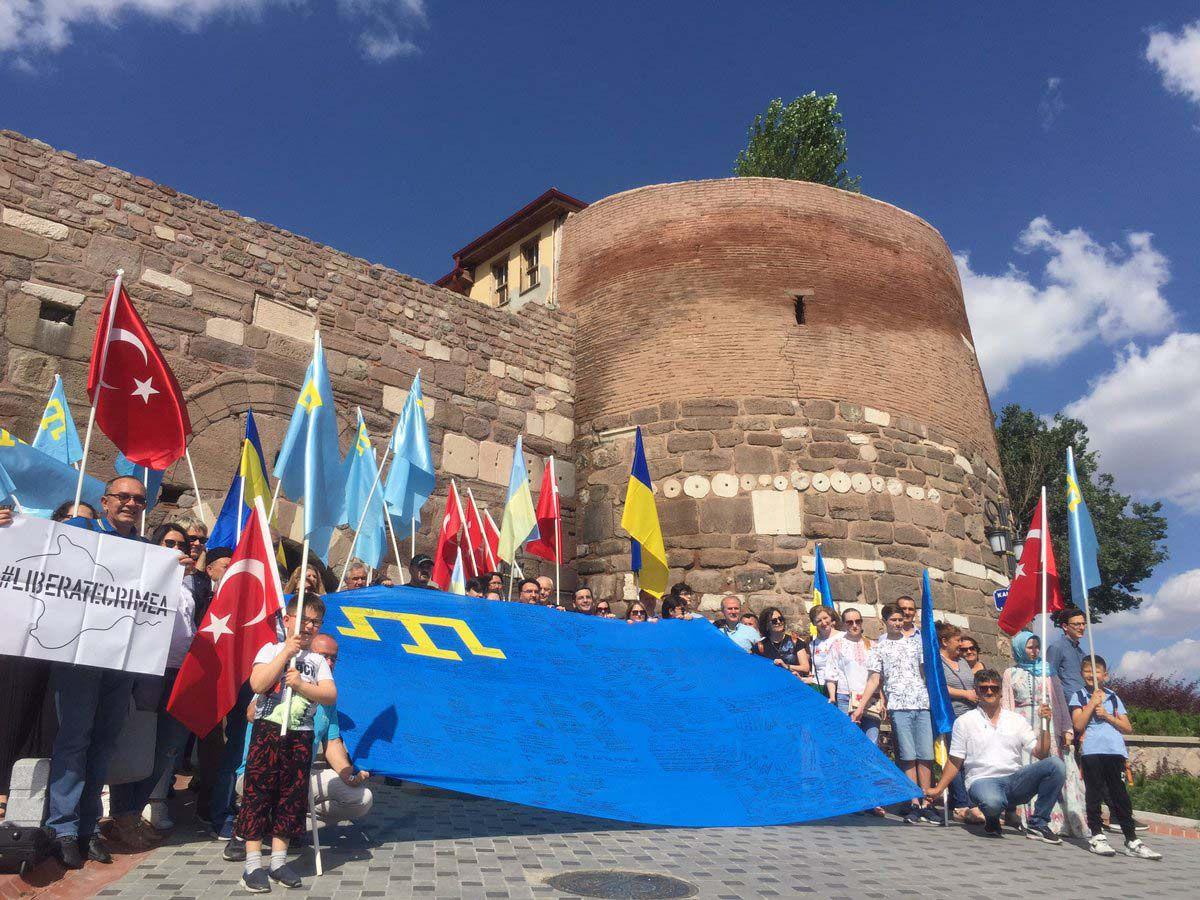 В Анкарі відбулася акція «Об'єднані прапором — #LiberateCrimea»