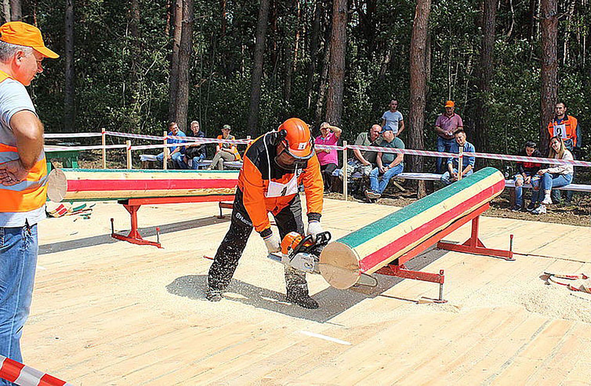 На Житомирщині визначали найкращого лісоруба