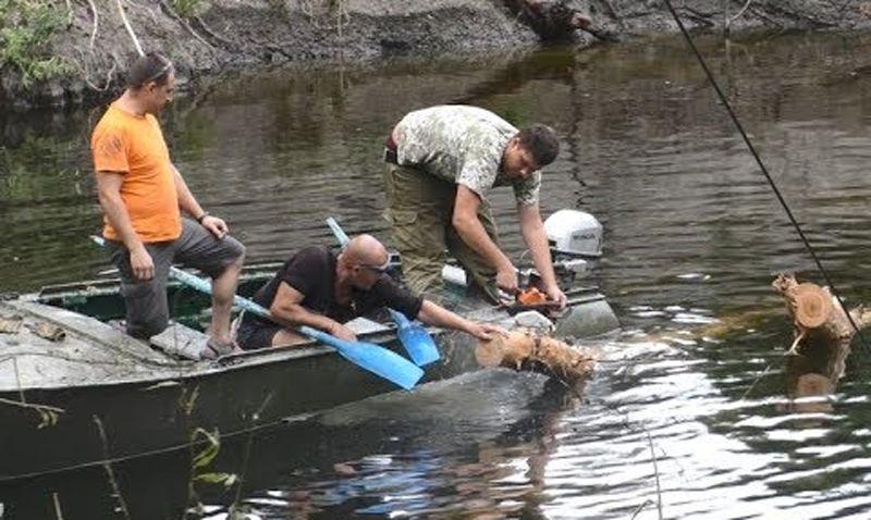 «Тромбы» на реке Сула ликвидировали небезразличные