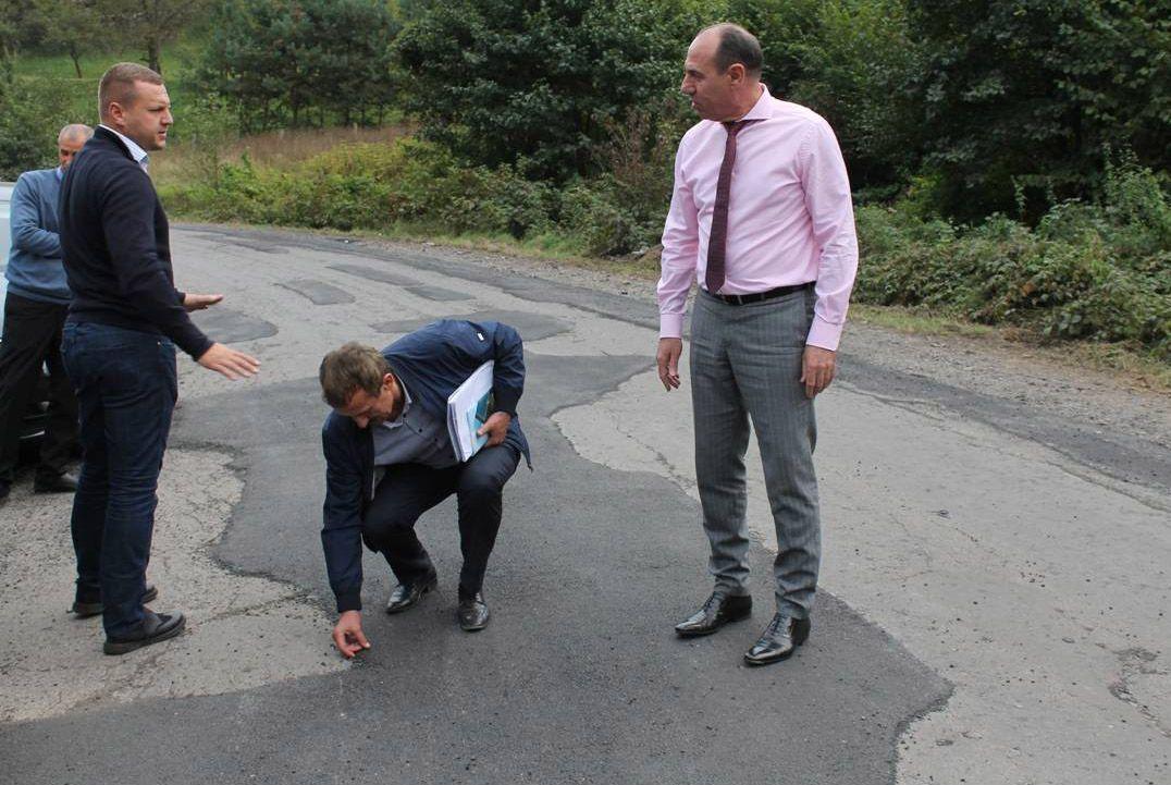 В Закарпатской области ремонт дорог под бдительным контролем